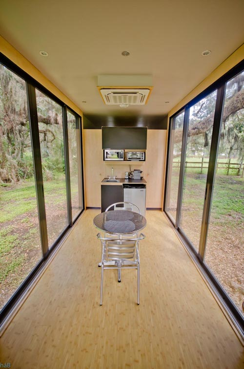 Large Sliding Doors - hâB Shipping Container Tiny Home