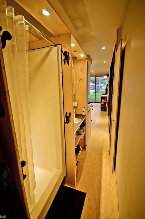 Hallway - hâB Shipping Container Tiny Home