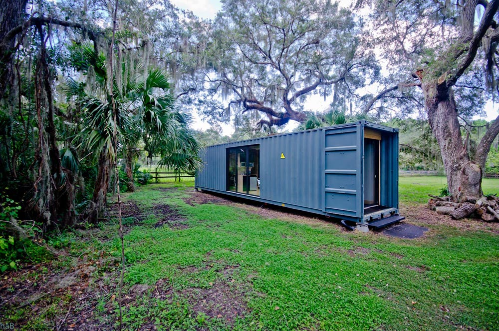 Industrial Finish - hâB Shipping Container Tiny Home