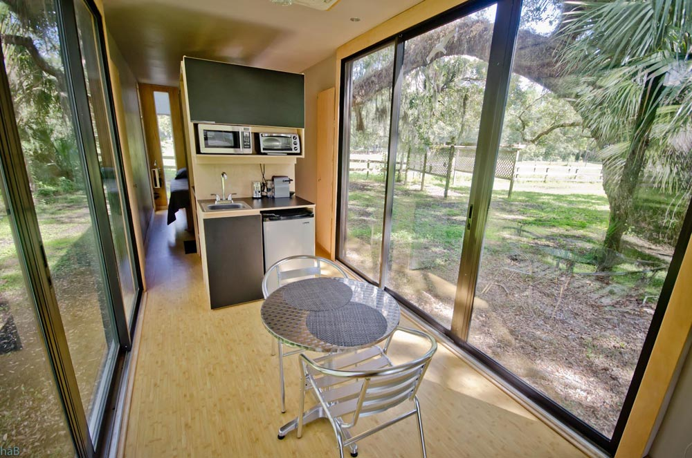 Dining Area - hâB Shipping Container Tiny Home