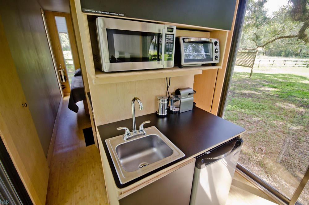 Kitchenette - hâB Shipping Container Tiny Home
