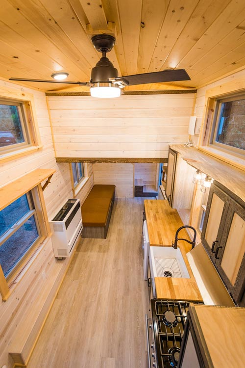 Aerial View - Heather's 37' Gooseneck Tiny House by Mitchcraft Tiny Homes