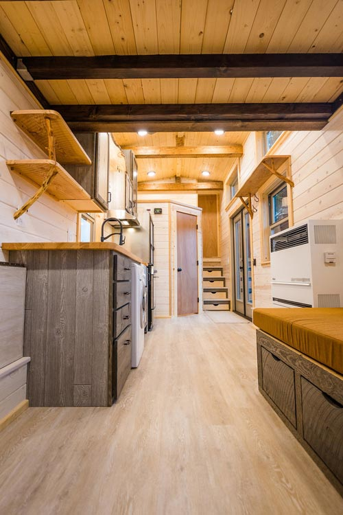 Living Room & Kitchen - Heather's 37' Gooseneck Tiny House by Mitchcraft Tiny Homes