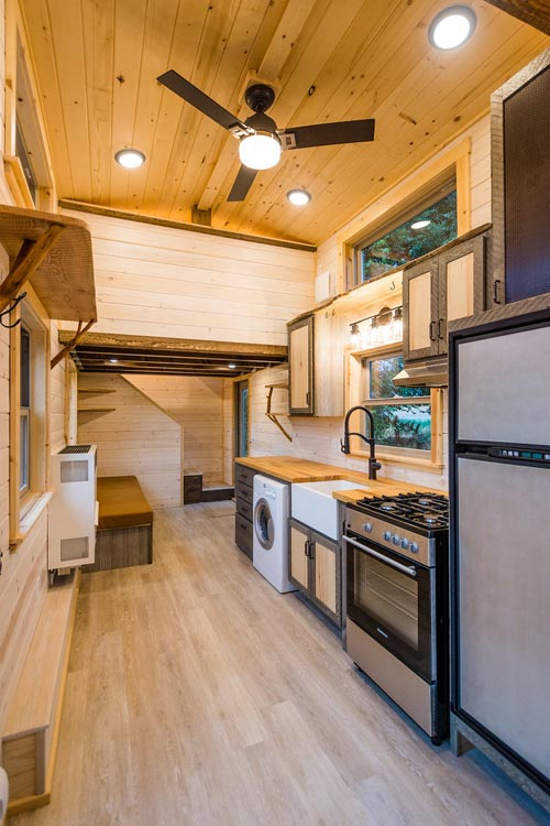 Kitchen - Heather's 37' Gooseneck Tiny House by Mitchcraft Tiny Homes