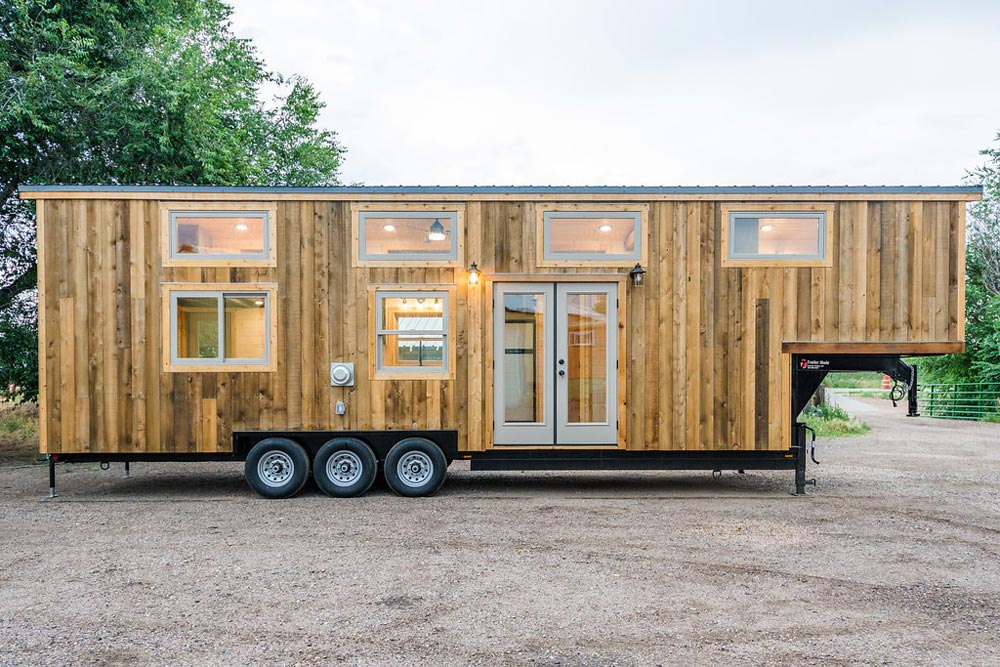 Rustic Exterior - Heather's 37' Gooseneck Tiny House by Mitchcraft Tiny Homes