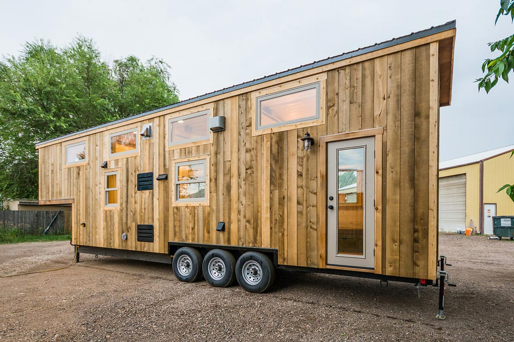 Rear Entry - Heather's 37' Gooseneck Tiny House by Mitchcraft Tiny Homes