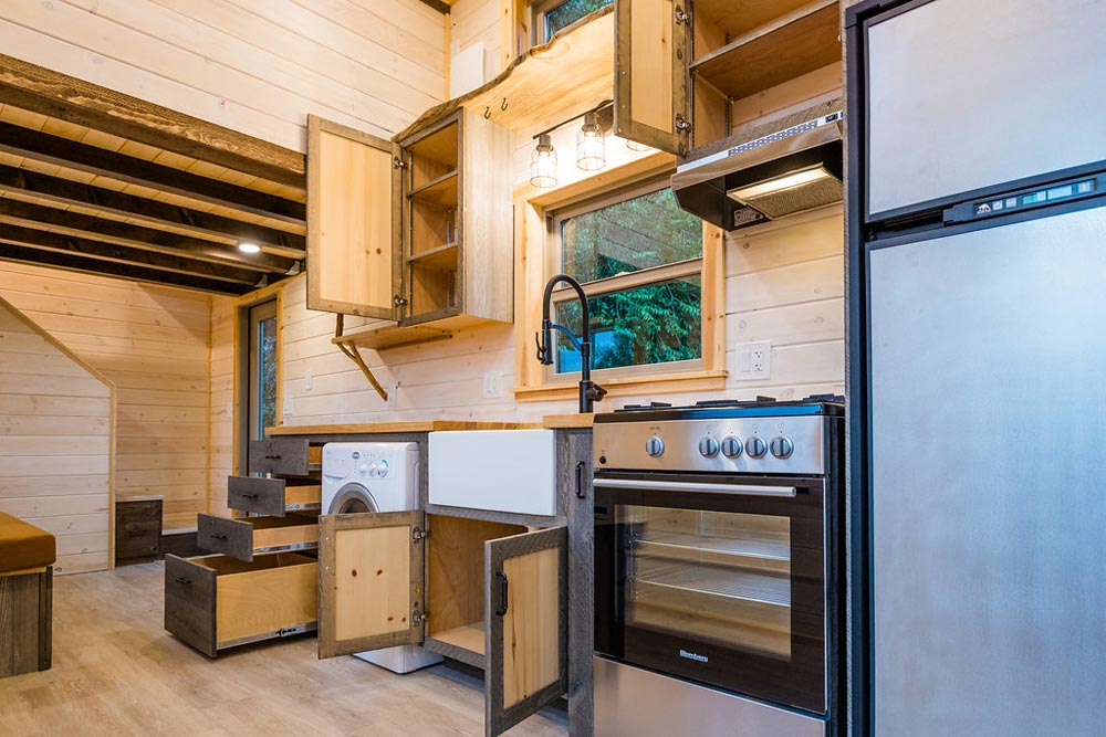 Plentiful Storage - Heather's 37' Gooseneck Tiny House by Mitchcraft Tiny Homes