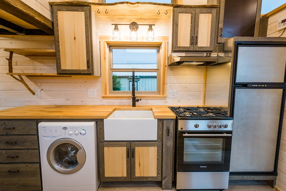 Custom Cabinets - Heather's 37' Gooseneck Tiny House by Mitchcraft Tiny Homes