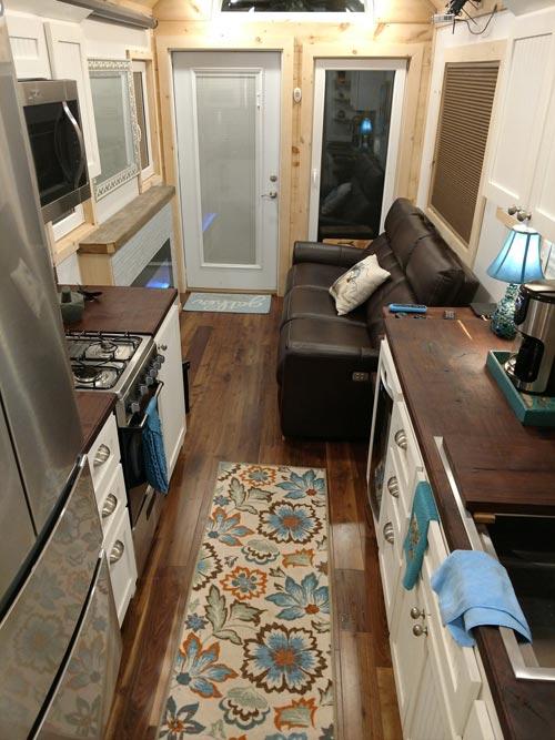 Kitchen & Living Room - Luxury 40 by Hummingbird Tiny Housing