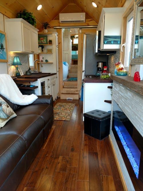 Walnut Flooring - Luxury 40 by Hummingbird Tiny Housing