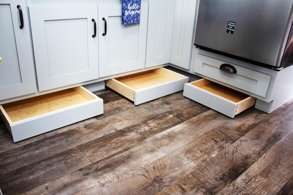 Toe-Kick Drawers - Maverick by Maverick Tiny Homes