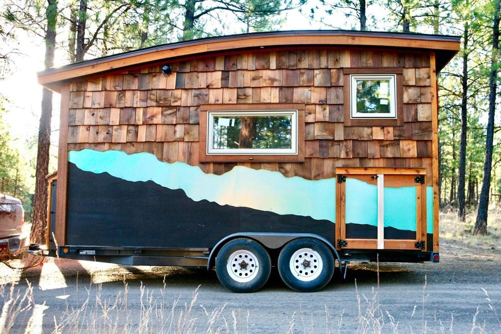 Turquoise River Accent - McKenzie by Wood Iron Tiny Homes