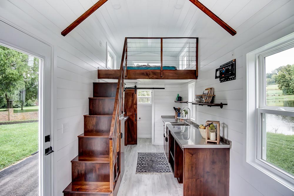 Stairs & Kitchen - Rodanthe by Modern Tiny Living