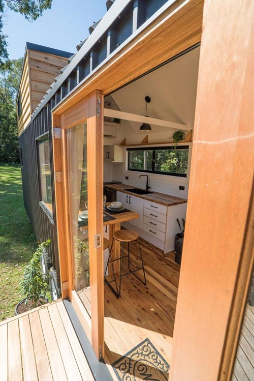 Double Glass Doors - Sojourner by Häuslein Tiny House Co