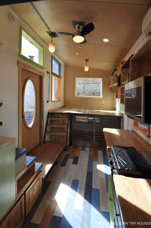 Reclaimed Flooring - Tandy by Rocky Mountain Tiny Houses