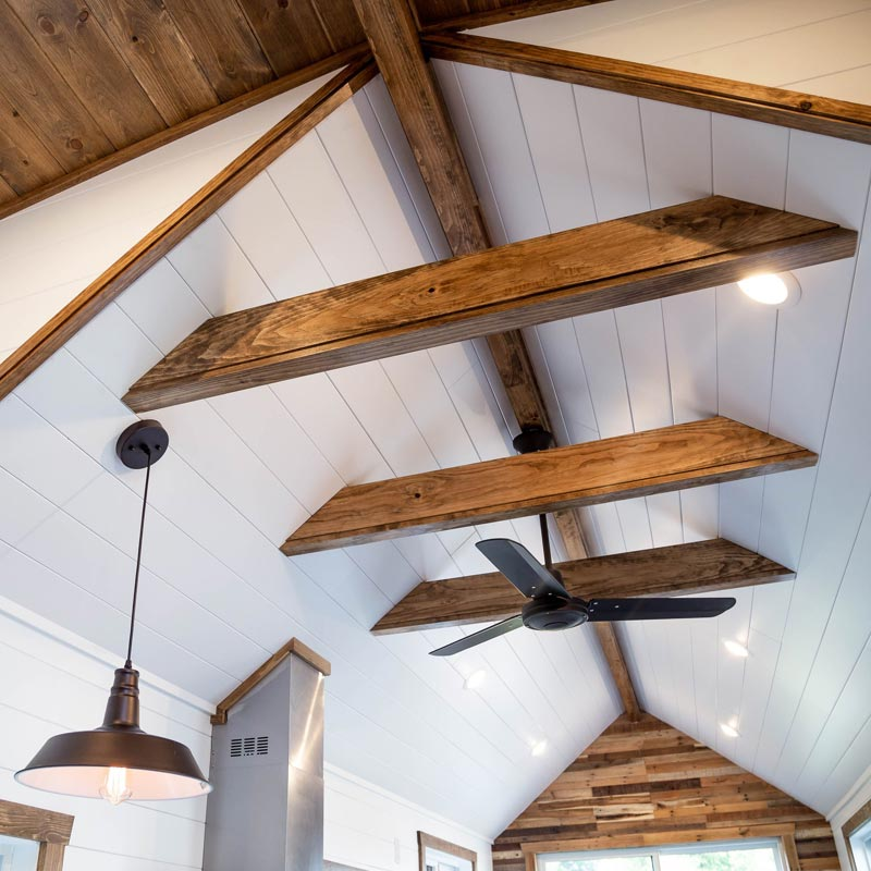Exposed Beams - Tedesco by Liberation Tiny Homes
