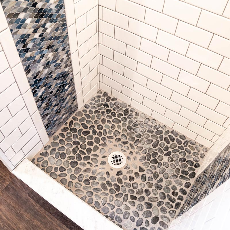 River Rock Floor - Tedesco by Liberation Tiny Homes