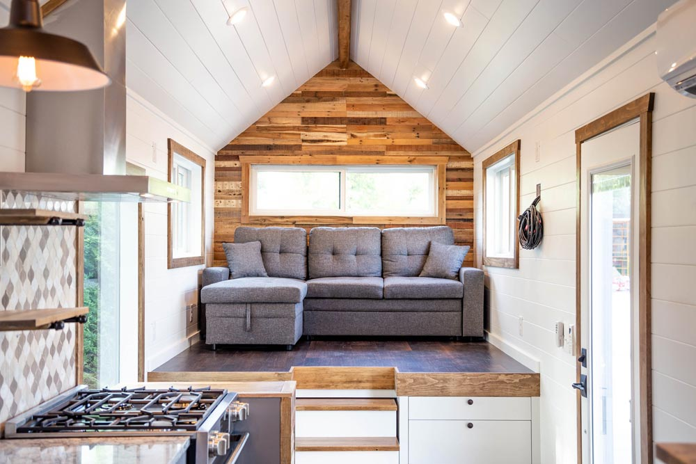 Raised Living Room - Tedesco by Liberation Tiny Homes