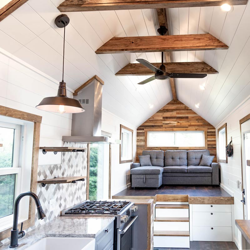 Kitchen & Living Room - Tedesco by Liberation Tiny Homes