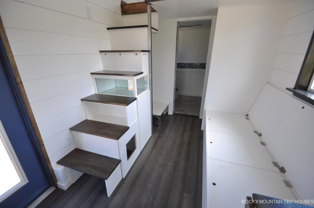 Bench Seat & Stairs - Ad Astra by Rocky Mountain Tiny Houses