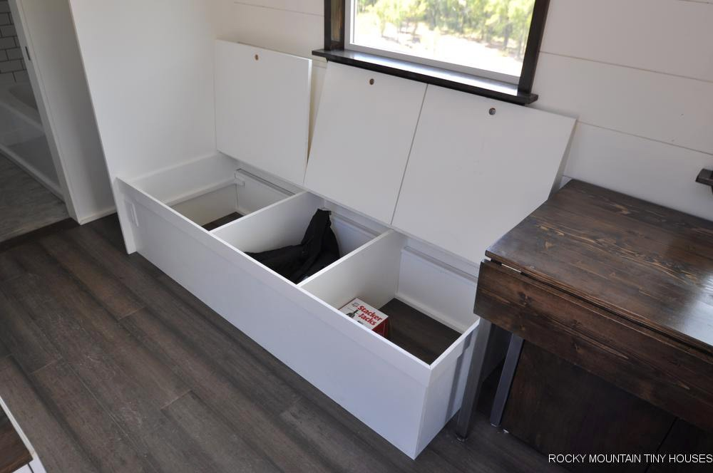 Bench Seat Storage - Ad Astra by Rocky Mountain Tiny Houses