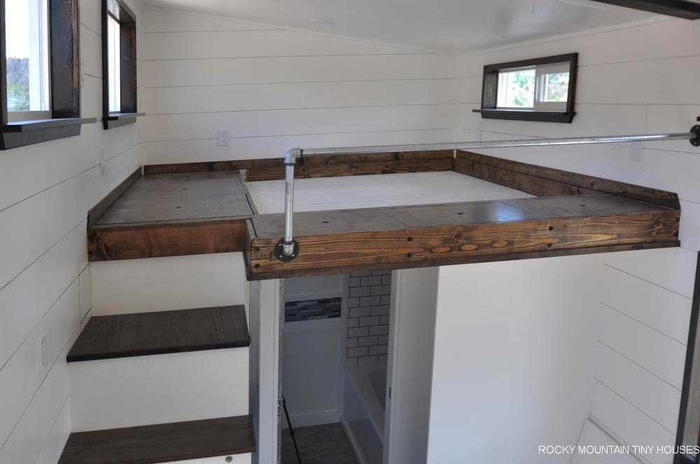 Sunken Mattress Loft - Ad Astra by Rocky Mountain Tiny Houses