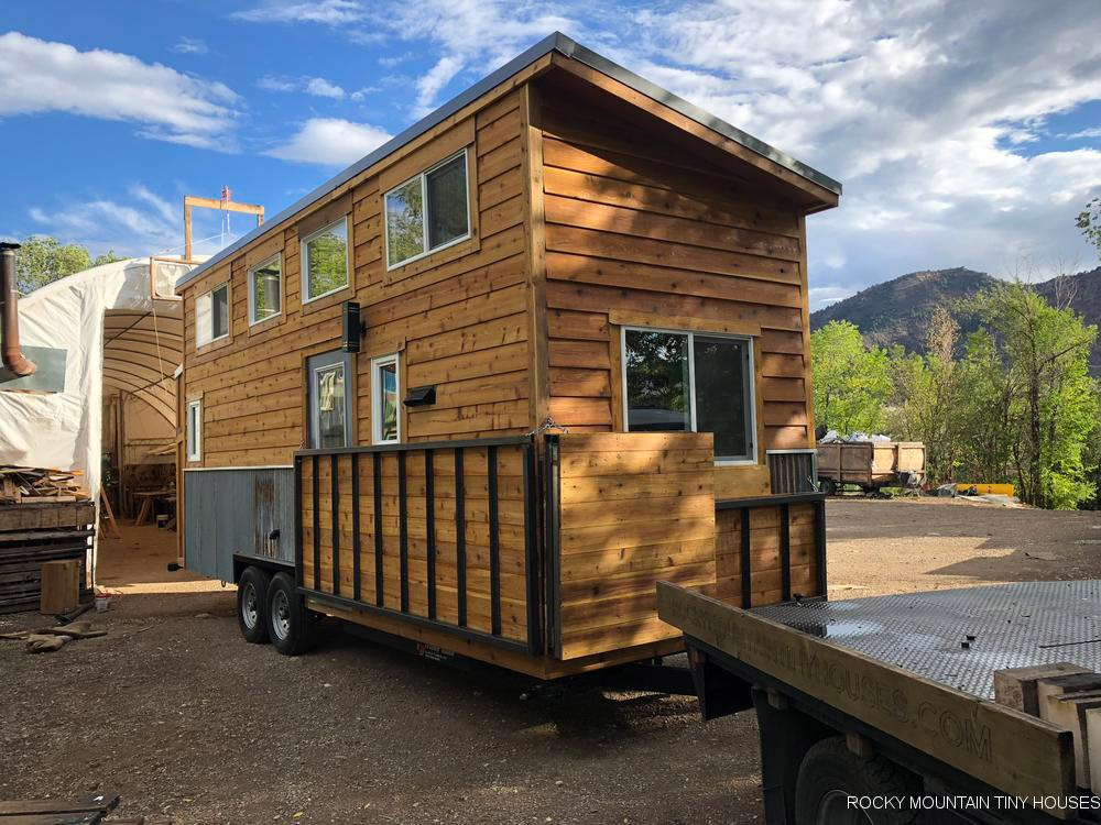 Folding Deck - Ad Astra by Rocky Mountain Tiny Houses