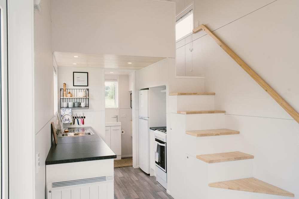 Storage Stairs - Archer Tiny House by Build Tiny