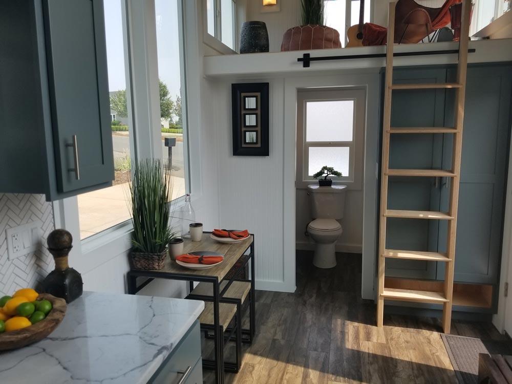 Entryway & Bathroom - Mt. Bachelor by Tiny Mountain Houses