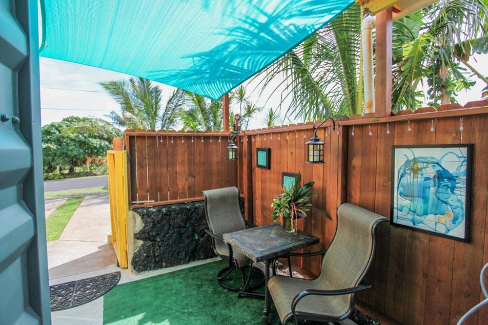 Private Lanai - Big Island Container Home
