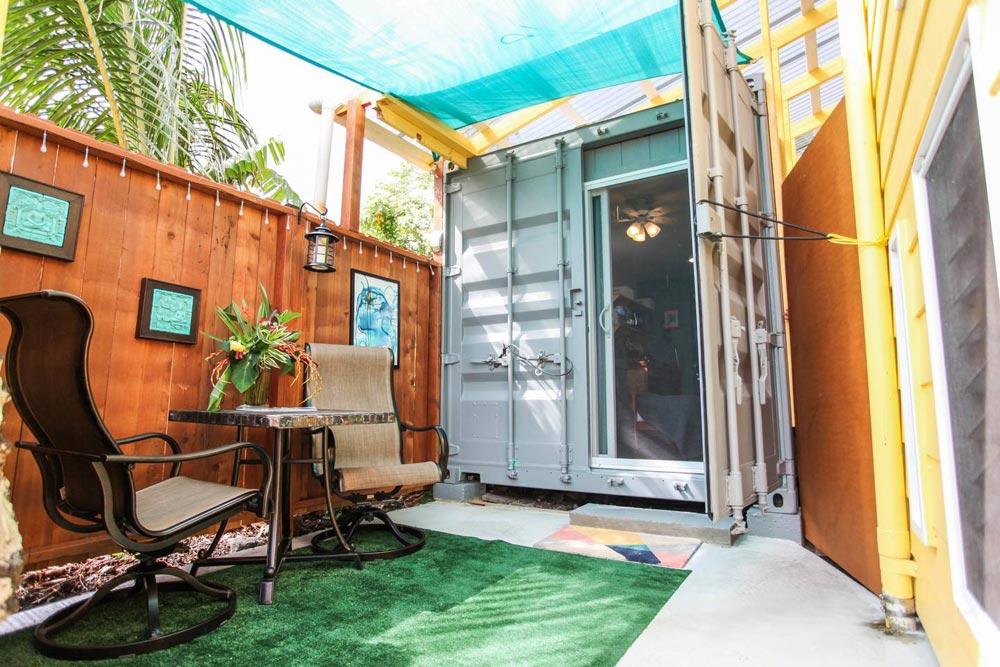 Front Door - Big Island Container Home