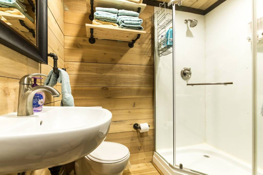 Bathroom - Blue Steel Tiny Container Home