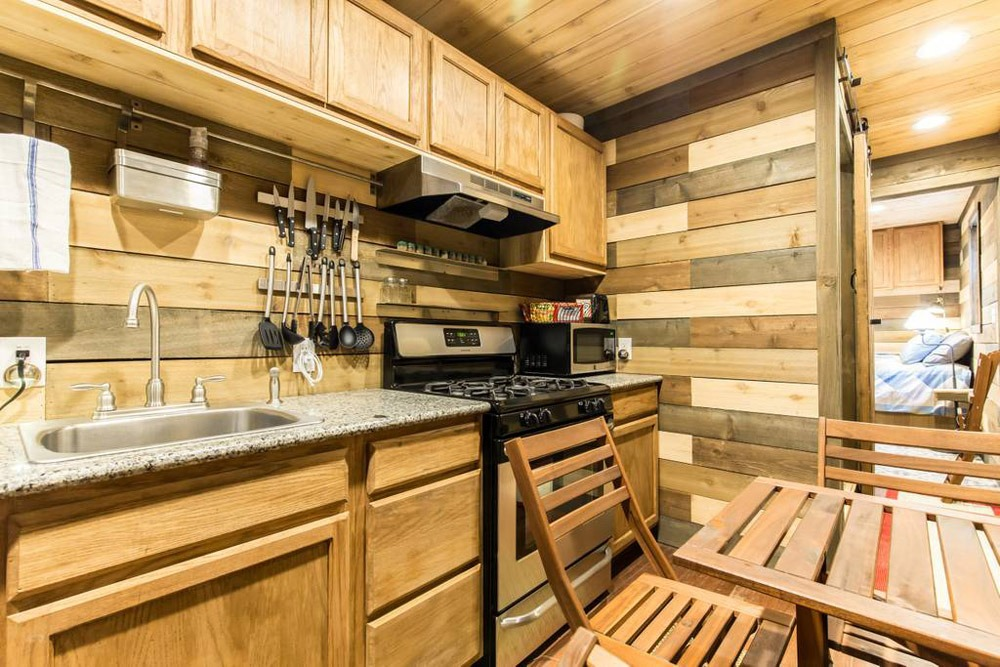Kitchen & Dining - Blue Steel Tiny Container Home