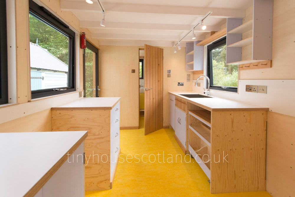 Kitchen & Bathroom - NestPod by Tiny House Scotland