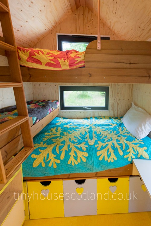 Three Bunkbeds - NestPod by Tiny House Scotland