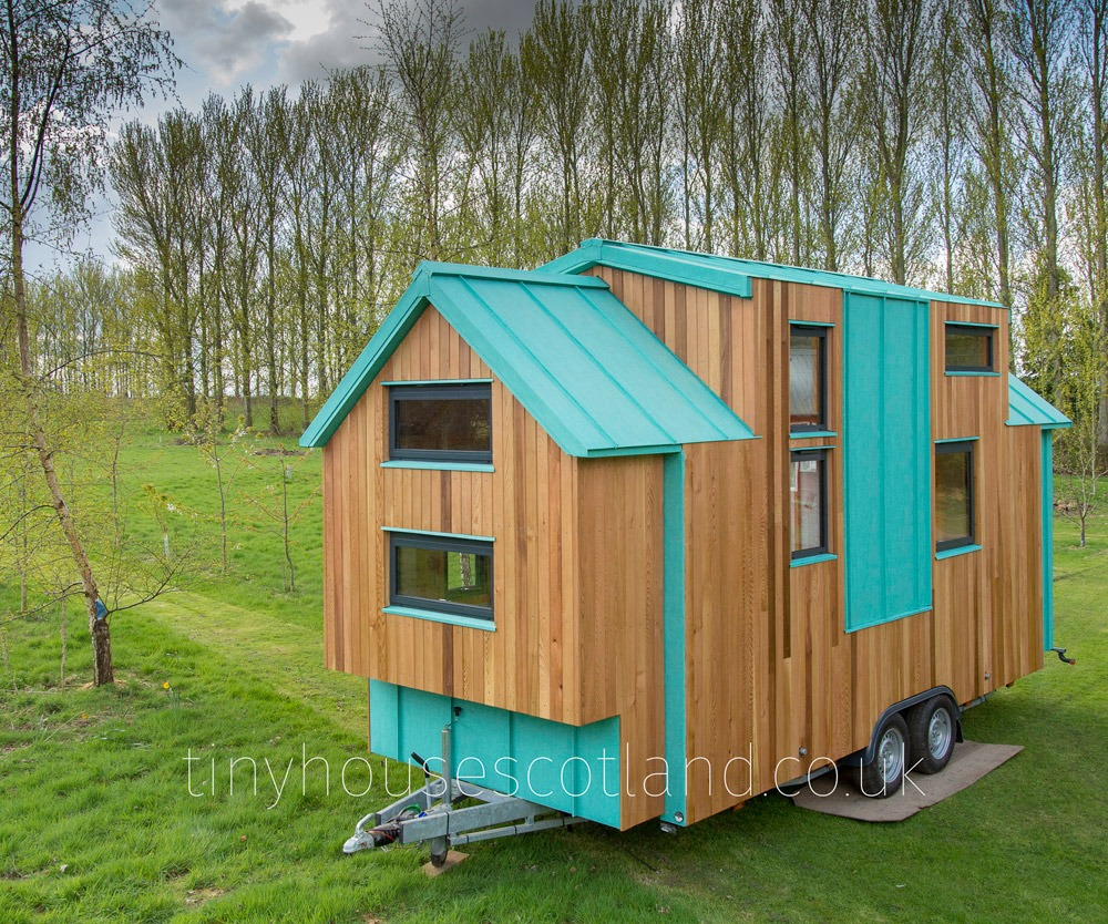 Cedar & Aluminium Siding - NestPod by Tiny House Scotland