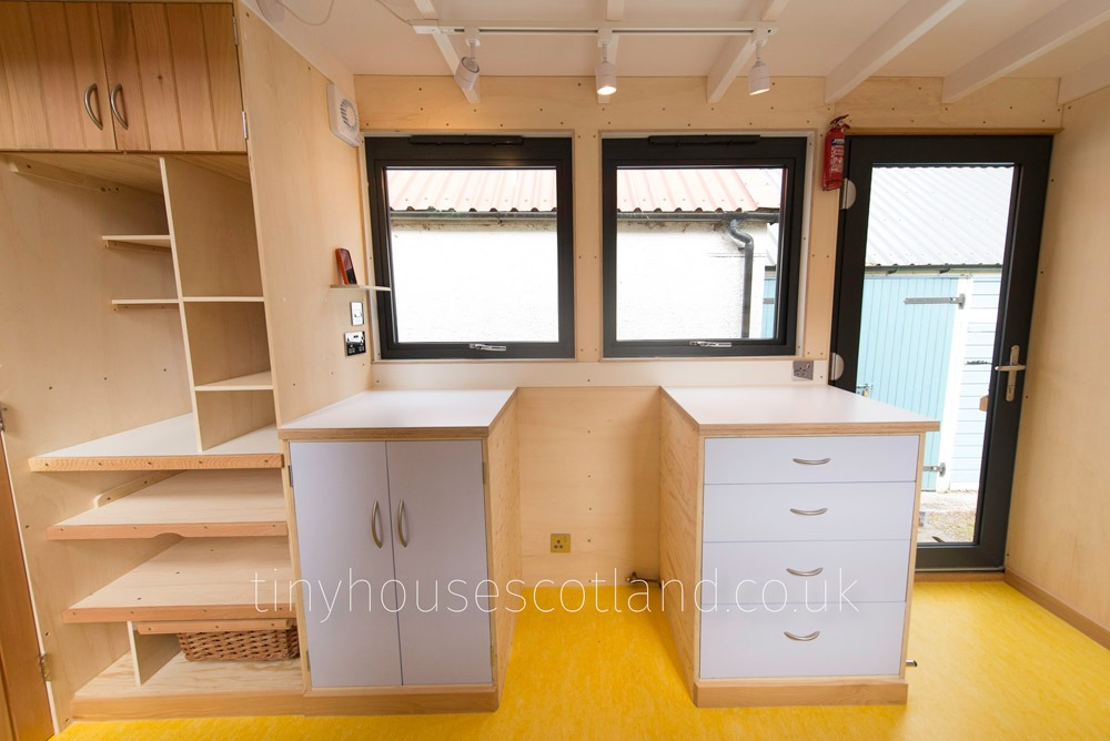 Custom Cabinetry - NestPod by Tiny House Scotland