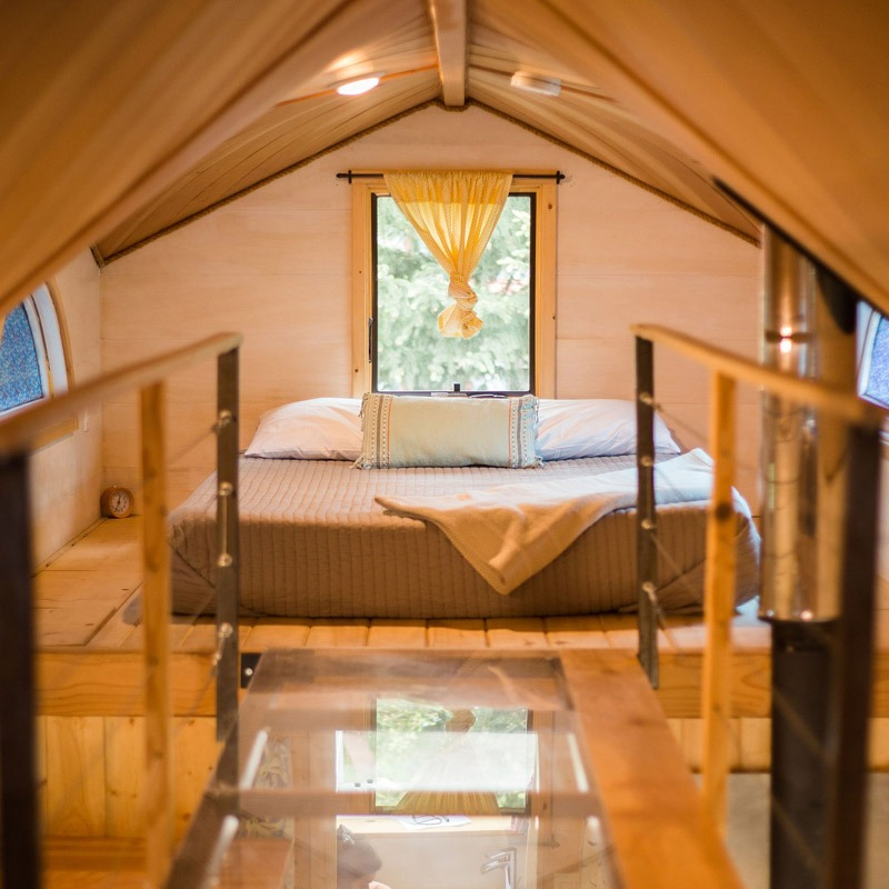 Master Bedroom Loft - Pequod at WeeCasa Tiny House Resort