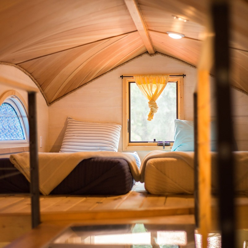 Arched Ceiling - Pequod at WeeCasa Tiny House Resort