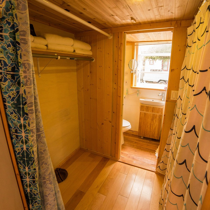 Clothes Storage - Pequod at WeeCasa Tiny House Resort