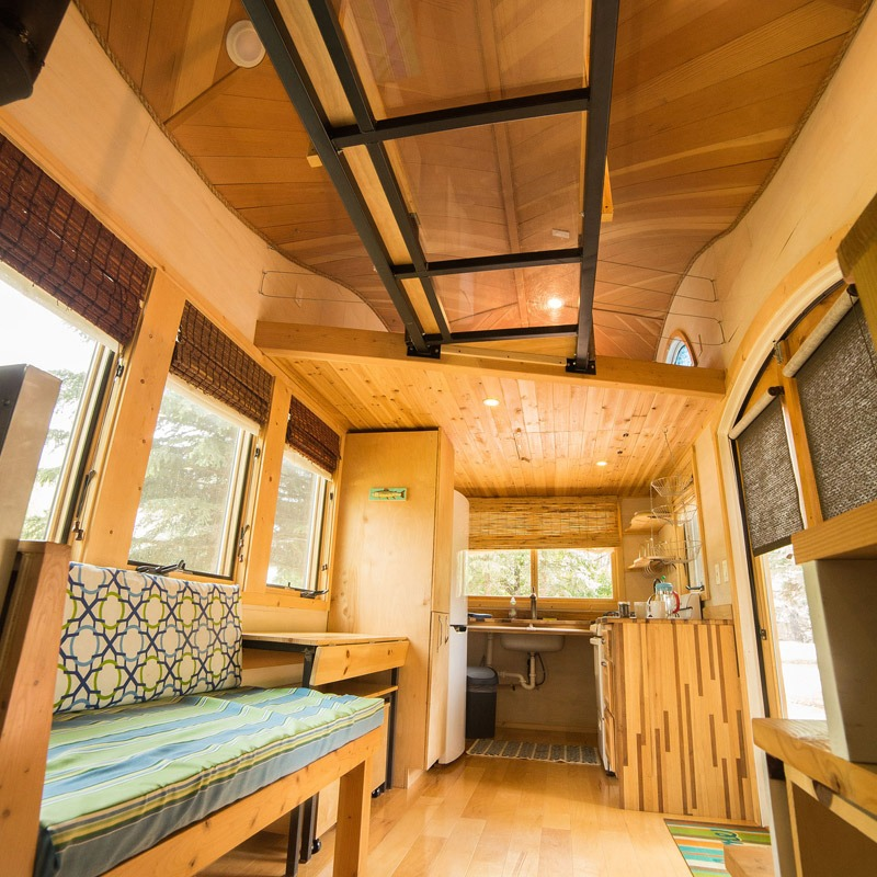 Custom Couch - Pequod at WeeCasa Tiny House Resort