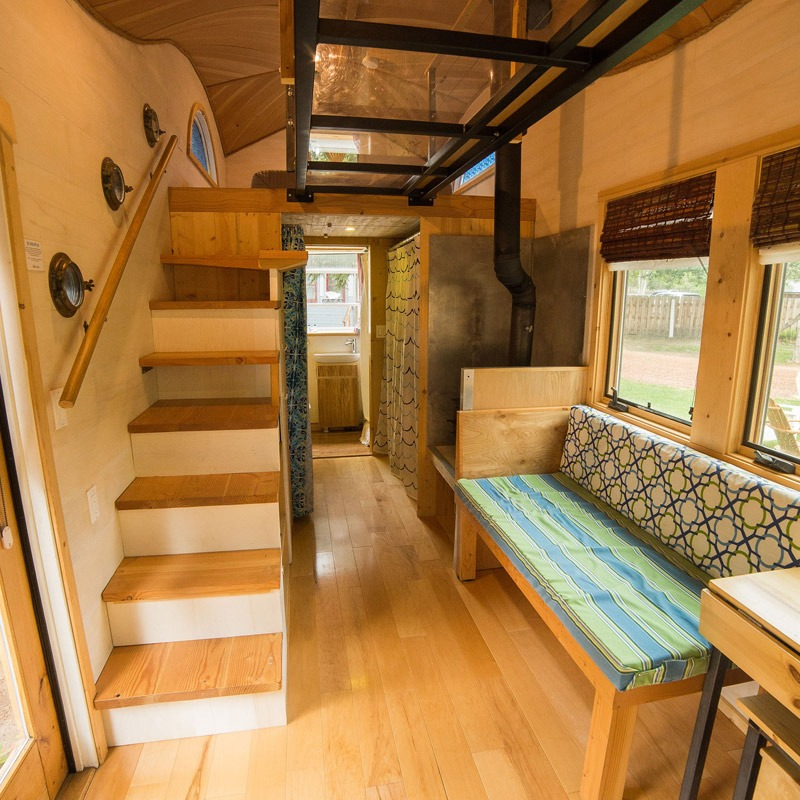 Storage Stairs - Pequod at WeeCasa Tiny House Resort