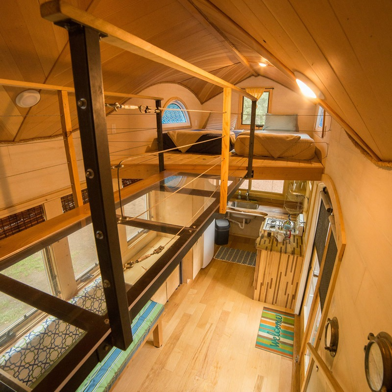 Steel Catwalk - Pequod at WeeCasa Tiny House Resort