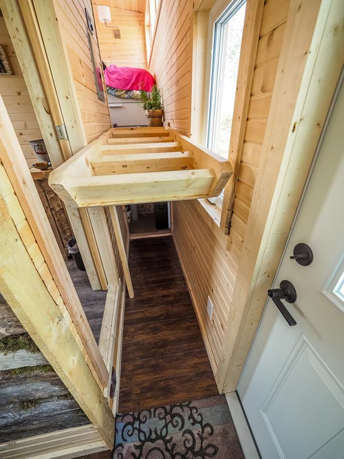Flip-Up Stairs - Raven by Blackbird Tiny Homes