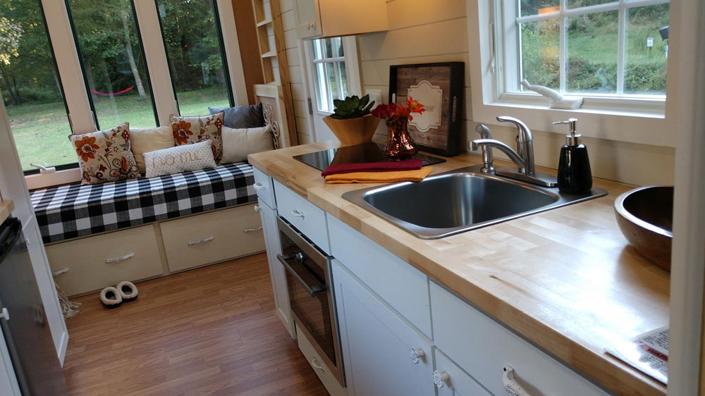 Butcher Block Counter - Sparrow by Blue Sky Tiny Homes