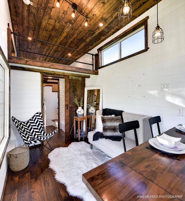 Bright Interior - Custom 34' by Mint Tiny Homes