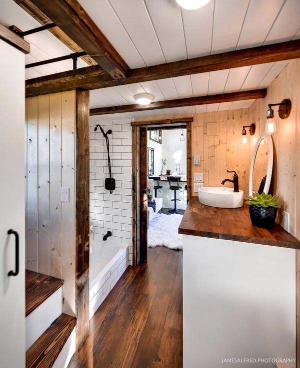 Bathroom - Custom 34' by Mint Tiny Homes