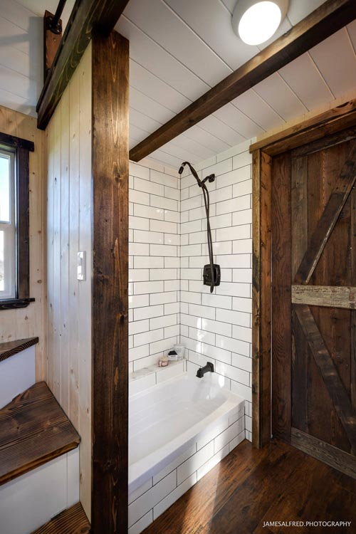 Tile Shower - Custom 34' by Mint Tiny Homes