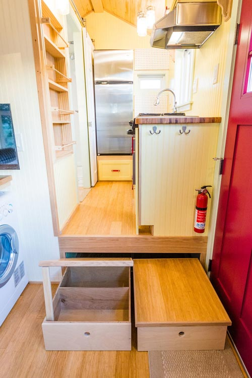 Slide-Out Storage Bins - KerriJo's Tiny House by MitchCraft Tiny Homes