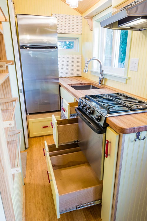 Kitchen Cabinets - KerriJo's Tiny House by MitchCraft Tiny Homes